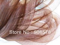 Brown Horsehair ( Crin ) Tube Crinoline for Hair Accessories ( 16mm Width ) 60yard