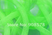 Green  Tubular Crin Large 16mm diameter used to make cyberlox hair extensions 60 yard