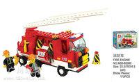 Building Block Set SlubanB3000 fire truck Model Enlighten Construction Brick Toy Educational Toy for Children