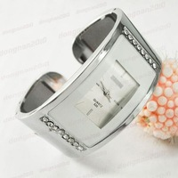 Free Shipping 5 Colors Rectangle  Women Bracelet Bangle Wrist Watch Ladies Stainless Steel Crystal Quartz Watch M430