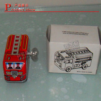 BY-3020  china 80's toys Classic toys tin Fire truck winding-power for collection low price wholesale