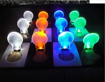 Free shipping 20PCS/Lot Mini LED Credit Card Light,Cerative Card lamp, Pocket LED Light for promotion