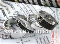 Freeshipping+New Good Quality Garde ladyand man fashion enamel bracelet Couple bracelets in black/white silvery