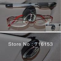 Multifunctional Auto Car Sun Visor Sunglasses Sunglass Card Pen Holder Clip Silver