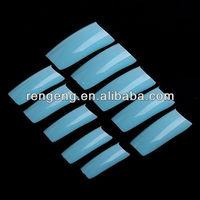 500Pcs Blue Color Fashion Natural Transparent Acrylic Style Artificial Tips Nail Art False Nails