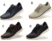 Brand New  Men Running shoes leather free run Man shoe Fashion men's sneakers eur39-eur45