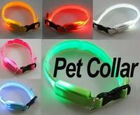 Glow Cat Dog Pet Flashing Light Up Safety Collar Luminous LED Pet Collar, 6 colors choice,5pcs/lot freeshipping CT0049