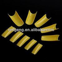 500Pcs Banana Yellow Natural Transparent Acrylic Style Artificial Tips Nail Art False Nail