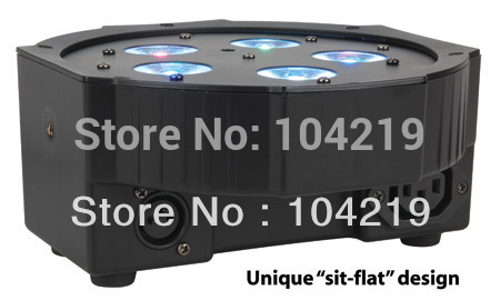 5*10W RGBW//A 4in1 led flat par can for up lighting,disco ,party ,event & dj 10pcs/lot Free shipping by Fedex or DHL(China (Mainland))