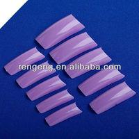 500Pcs Purple DIY Fake Nails Natural Transparent Acrylic Style Artificial Tips Nail Art False Nails