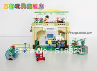 Original Box Wange DR.Luck city girl series Building Block Sets 369pcs Educational Bricks toys for children No.32211N