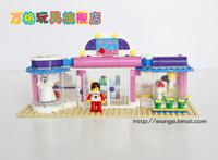 Original Box Wange DR.Luck city girl series Building Block Sets 258pcs Educational Bricks toys for children No.32213N