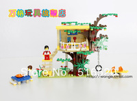 Original Box Wange DR.Luck city girl series Building Block Sets 303pcs Educational Bricks toys for children No.32214N