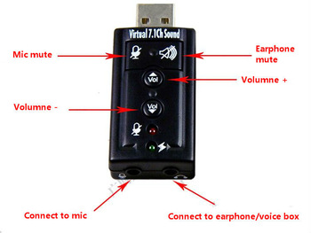 DHL Free Shipping Dropshipping 100 pieces/lot USB 2.0 3D Virtual 7.1 Channel Audio Sound Card Adapter with LED indicators