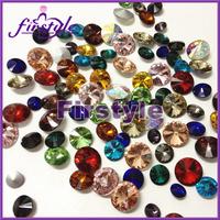 40%OFF! MIXED COLORS ! 14mm Crystal Rivoli beads,Rivoli Crystal Silver Shade stones free shipping