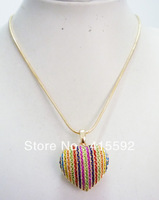 fashion necklace heart necklace Xmas promotion new style fashion jewelry  gold necklace