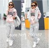 New Style !!Spring Korean Women Leisure Sports Hoodie Set & Three-piece Thickening of The Sweater (1pack=3pcs)