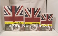 HOT The simulation Union Jack&novel safe Creative piggy bank mini book safe box,Secret book,3 sizes,Free shipping