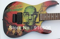 2014 hot guitar model Free shipping HOT SALE Kirk Hammett Metallic ESP KH2 M-II Mummy Karloff Tlmummy Electric Guitar