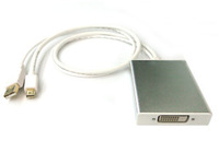Active Mini DisplayPort + USB to Dual-Link DVI Adapter