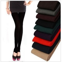 (Free shipping) Women's bamboo charcoal legging pantyhose thickening fleece yarn  plus size trousers female