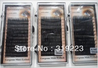 M-022 5 boxes 0.10,0.15 C CURL 8mm,10mm,12mm can choose false eyelashes eyelash extension Free Shipping