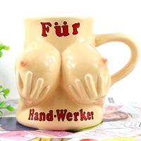 4pcs/lot Novelty bikini Breast personality Ceramic glass beer cup, good Gift Porcelain Mug