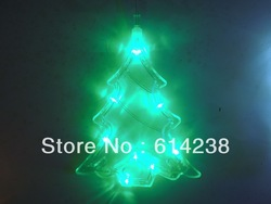 Free shipping Christmas tree shape Lighting Strings Motif Lights 9 LED Size : 18X7CM Lighting Strings for Christmas holiday(China (Mainland))