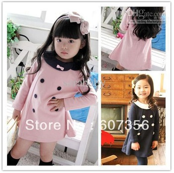 Christmas dresses Girls long sleeve one-pieces kids clothing Princess costume Children's wears gxs