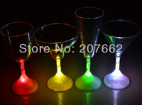 Free shipping 12pcs/lot 175ML/6OZ color changing plastic flashing cup flashing beer mug cocktail glass for christmas