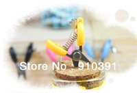 Free shipping 4.5cm candy color mini scissors,mobile phone chain as novelty key chain ring,protable fashion hang pendant!