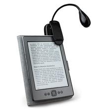 100% nuevo mini único clip- en flexible brillante luz led libro de lectura lámpara para e- libro kindle3 lector 4 touch 3g fuego(China (Mainland))