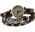 JW026 ladies retro rivet watch, stylish silver beads quartz watch Genuine Cow leather dress watches free shipping