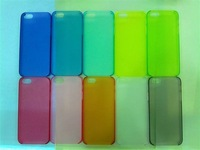 200pcs/LOT For iPhone 5 5S 0.5mm Slim Crystal Clear Hard Case Cover skin 10color free shipping DHL EMS