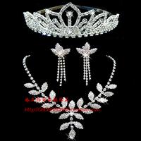 Necklace the bride accessories rhinestone chain sets wedding jewellery wedding accessories the bride supplies set piece set