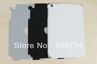 200pcs/lot Free shipping 3D Carbon fiber protective skin film sticker for Apple iPad MINI 3 colors