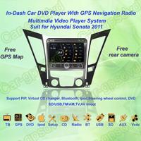 Free Shipping! 2011 Hyundai Sonata GPS Navigation DVD Player ,TV,Multimedia Video Player system+Free GPS map+Free camera