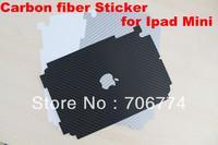Wholesale carbon fiber sticker skin for ipad Mini  free shipping by DHL 100pcs/lot