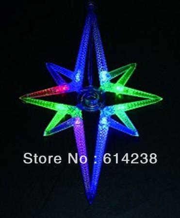 Free shipping Pole star shape LED Lighting Strings Length: 3M, 8 LEDS/ pole star,16X28CM/star LED motif Christmas string lights(China (Mainland))