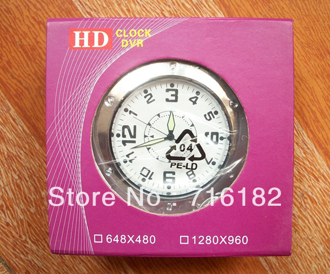 Hidden Security Camera Desk Clock DV DVR Recorder Camcorder Cam With Motion Detection With Retail Box(China (Mainland))