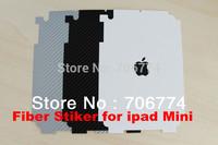 for ipad Mini sticker,Carbon Fiber Sticker back Cover Protector For new ipad Mini 50pcs/lot  free shipping