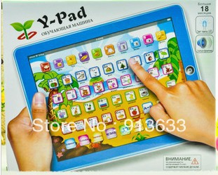 5pcs/lot New Arrival Russian Y-pad Children Learning Machine Russian Ypad Computer best Christmas gift for Kids