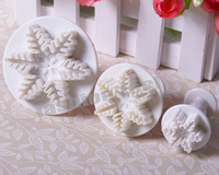 Snowflake Cake Icing Cookie Sugar Sugarcraft Decorating Plunger Cutter Mold 01095