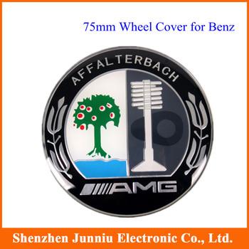 4 Pcs/set 75mm AMG Flat Wheel Cap Cover for W211 W202 W212 CLK SLK C-CLASS MERCEDES BENZ Free Shipping