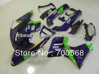 Motorcycle fairing kit body work cowling for ZZR400 93-07 purple and green