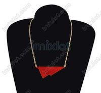 20pcs/lot European Enamel Triangle Bib Necklace Tribal Spike Geometric Choker Collar Style