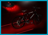 2012 Cycling Bike Bicycle 5 LED Plastic Laser Beam Rear Tail Light Lamp Free Shipping