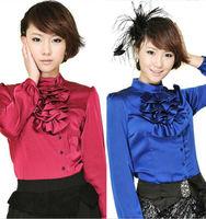 Весна лето новые моды Корейский длинные животных печати шифон Топы Блузки женщины случайный отделение рубашки