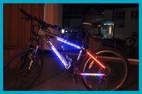 Green Bicycle Mountain Bike Color Rainbow LED Light Bar Strip Tyre Spoke Wheel Decoration Free Shipping