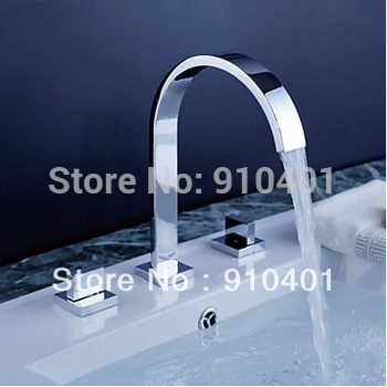 Contemporary Solid Brass Minispread  Bathroom Faucet Basin Faucet Two Handles Sink Mixer tap